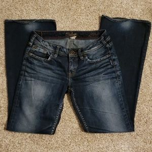 Silver Aiko Bootcut Jeans.